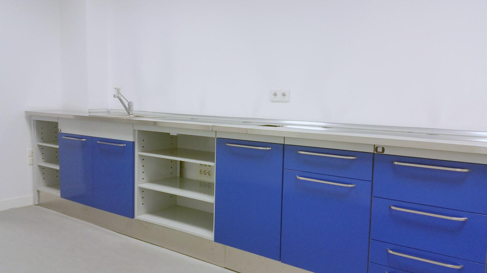 Bancada Jeb azul - Muebles para laboratorio