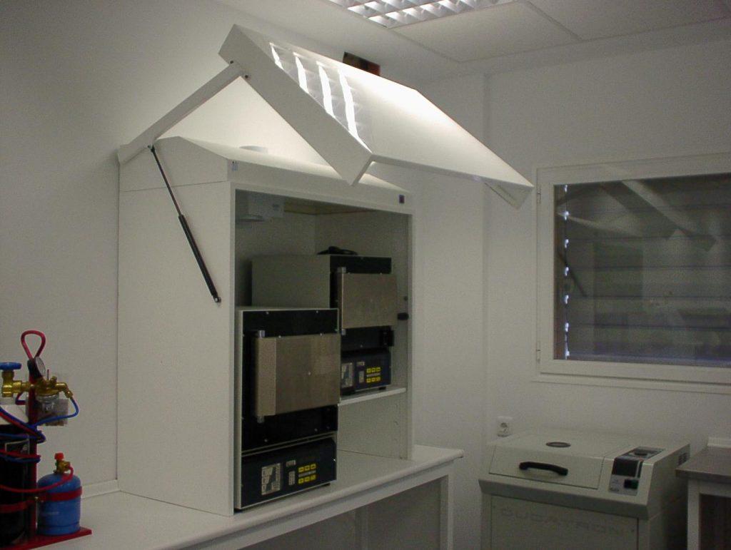 Campanas para hornos blanca para laboratorios dentales Jeb