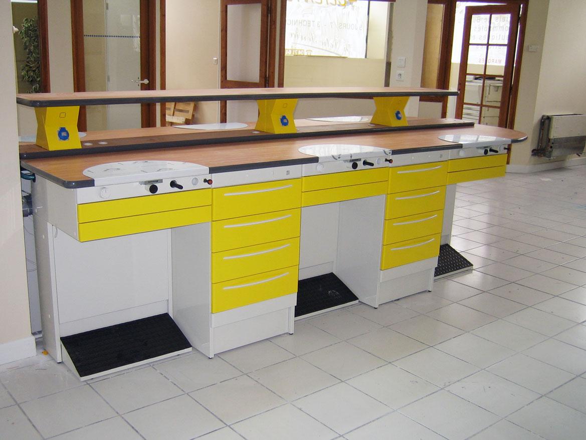 Mesa de trabajo Elite amarilla para protésicos dentales - Jeb Proclilab