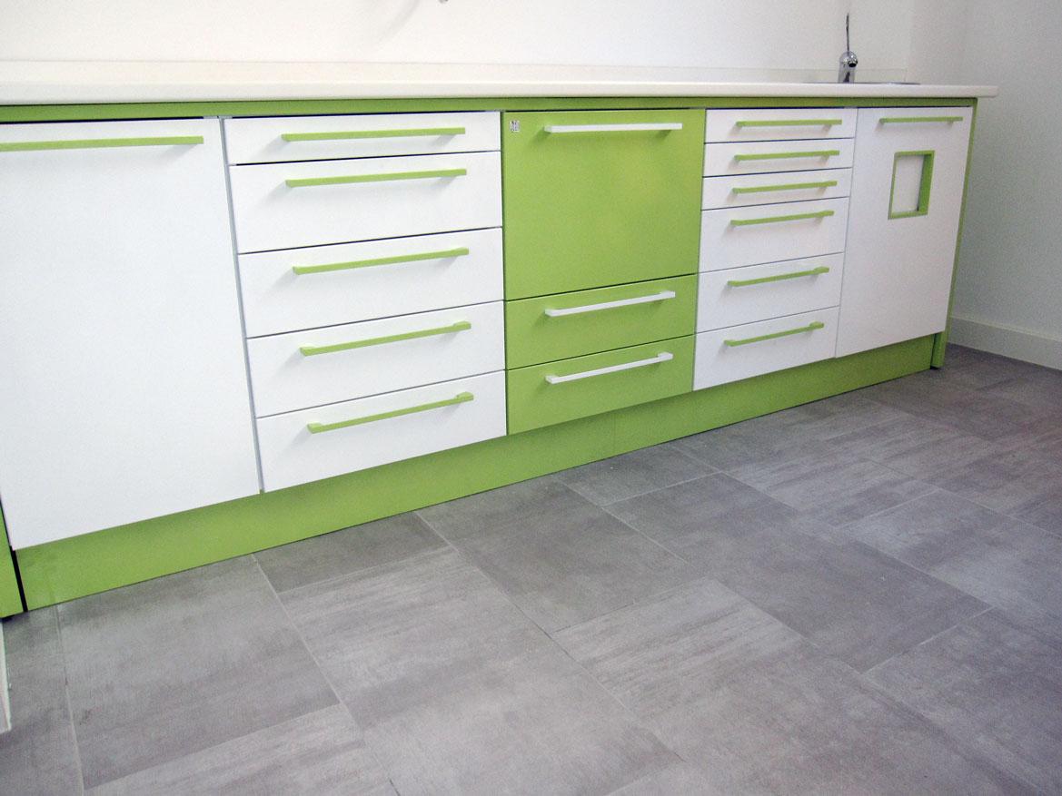 Mueble verde para clínica dental Jeb Proclilab