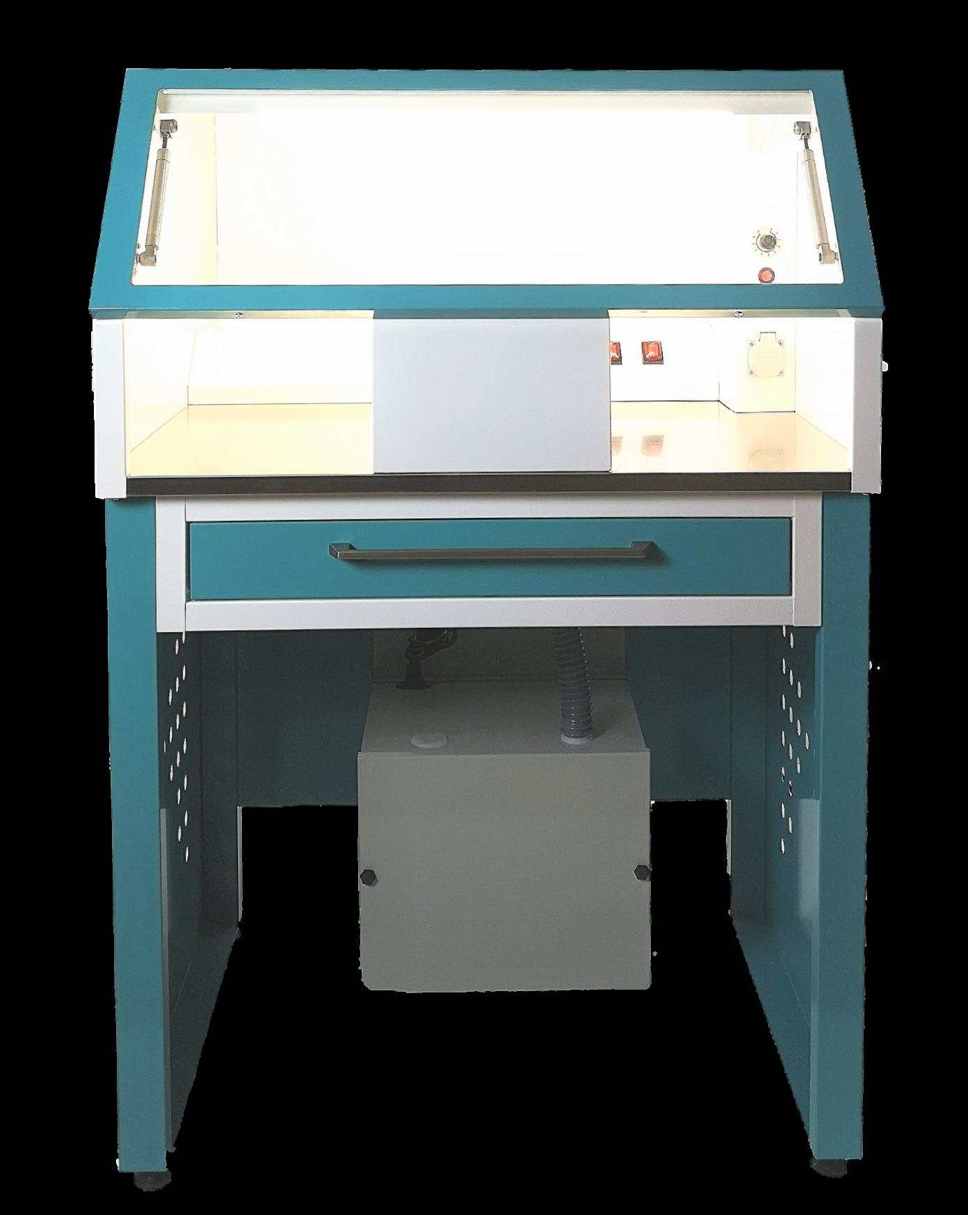 cabina de repasado dental